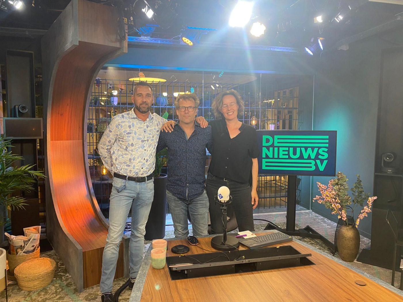 Christine en Edwin samen met presentator Patrick Lodiers