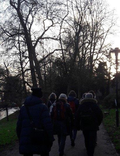 Angelique Nien organiseert een wandeling