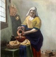Schilderij door een van de deelnemers